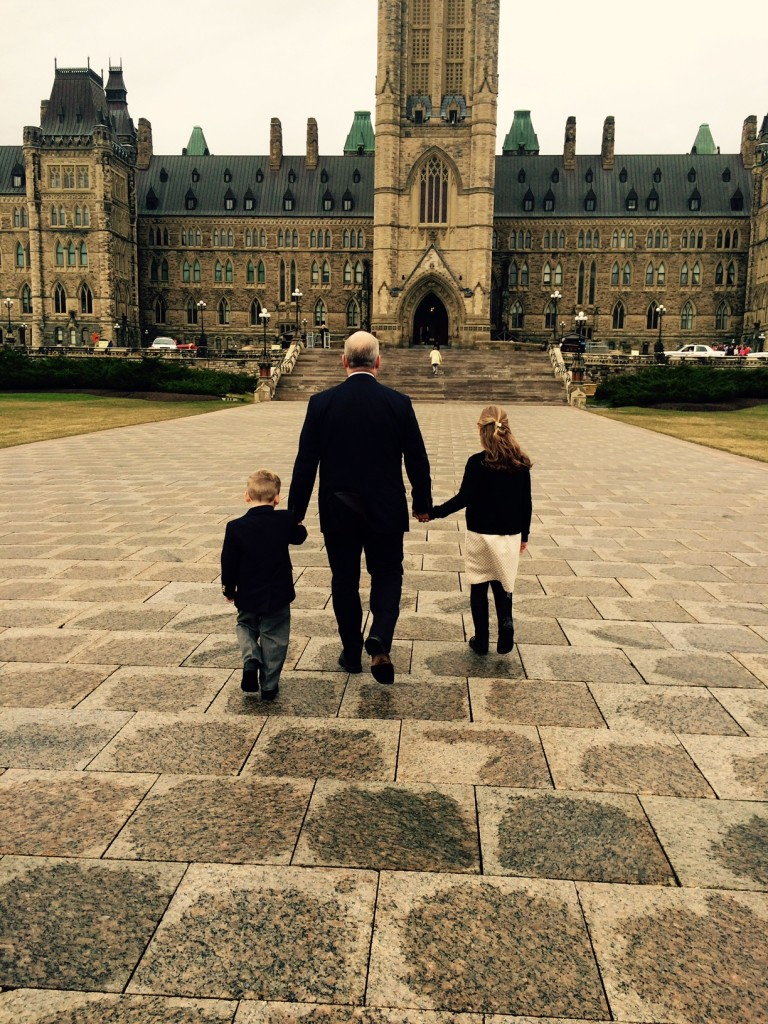 Parliament Hill with Mollie and Jack ahead of my swearing in as Durham MP on Nov. 6, 2015